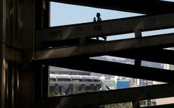 A man walks at the campus of Rio de Janeiro's State University (UERJ) in Rio de Janeiro, Brazil, July 5, 2016. REUTERS/Ricardo Moraes