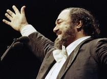 Pavarotti em show em Buenos Aires  15/12/1991  REUTERS/Stringer