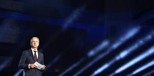 El presidente ejecutivo de Audi, Rupert Stadler, habla durante la presentación mundial del nuevo Audi A5 y S5 Coupe en la sede central de la compañía en Ingolstadt, Alemania, el 2 de junio de 2016. Audi quiere tener tres modelos de automóviles eléctricos a 2020 y que sus vehículos eléctricos respondan por entre un 25 y un 30 por ciento de sus ventas a 2025, dijo Stadler a un diario alemán. REUTERS/Lukas Barth