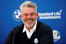 Britain Golf - BMW PGA Championship - Wentworth Club, Virginia Water, Surrey, England - 27/5/16 Europe team captain Darren Clarke talks at a press conference as he names his three vice captains for the 2016 Ryder Cup Action Images via Reuters / Andrew Boyers Livepic