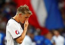 Football Soccer - Germany v France - EURO 2016 - Semi Final - Stade Velodrome, Marseille, France - 7/7/16 Germany's Bastian Schweinsteiger reacts after the game REUTERS/Kai Pfaffenbach Livepic