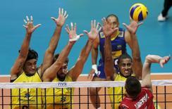 Brasil enfrenta EUA em jogo da Liga Mundial no Rio de Janeiro. 16/7/2015.  REUTERS/Sergio Moraes