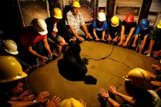 """Tourists visit the underground tunnels in the """"Bosnian Pyramid of the Sun"""", an archaeological and nature park, in the central Bosnian town of Visoko, Bosnia and Herzegovina, July 27, 2016. Picture taken July 27, 2016. REUTERS/Dado Ruvic"""