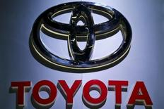 The logo of Toyota is pictured at at the 37th Bangkok International Motor Show in Bangkok, Thailand, March 22, 2016. Picture taken March 22, 2016. REUTERS/Chaiwat Subprasom