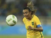 Marta, em partida contra a Suécia  06/08/2016 REUTERS/Gonzalo Fuentes
