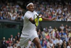 Britain Tennis - Wimbledon - All England Lawn Tennis & Croquet Club, Wimbledon, England - 4/7/16 File photo of Australia's Nick Kyrgios in action against Great Britain's Andy Murray. REUTERS/Andrew Couldridge