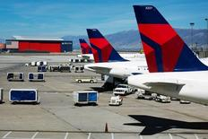 Aeronaves da Delta vistas em Utah, Estados Unidos.   28/09/2013     REUTERS/Lucas Jackson/File Photo