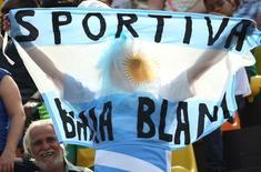 Torcida argentina em partida de rugby em Deodoro  09/08/2016 REUTERS/Alessandro Bianchi