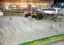 Esquadrão antibomba na arena Carioca 1 11/08/2016 REUTERS/Nacho Doce