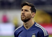 Lionel Messi em partida da seleção argentina. 21/06/2016 REUTERS/Kevin Jairaj-USA TODAY Sports