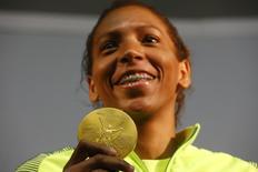 Rafaela Silva, que levou o ouro do Brasil no judô 9/08/2016. REUTERS/Nacho Doce