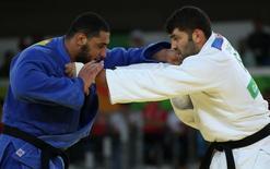 Sasson e El Shehaby lutam na Rio 2016.  12/08/2016.  REUTERS/Toru Hanai