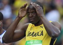 Bolt durante bateria dos 100m no Rio.  13/08/2016.       REUTERS/Phil Noble