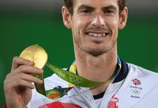 Murray comemora título no Rio.  14/08/2016.  REUTERS/Toby Melville