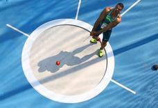 Brasileiro Wagner Domingos durante competição na Rio 2016.       17/08/2016          REUTERS/Pawel Kopczynski