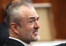 File Photo: Nick Denton, founder of Gawker, talks with his legal team before Terry Bollea, also known as Hulk Hogan, testifies in court, in St Petersburg, Florida, United States, March 8, 2016.  REUTERS/John Pendygraft/Pool/File Photo