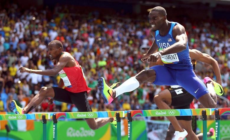 Athletics: Clement wins 400m hurdles, Culson left sobbing ...