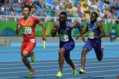 Atletas durante prova de revezamento 4x100m.    17/08/2016       Kirby Lee-USA TODAY Sports