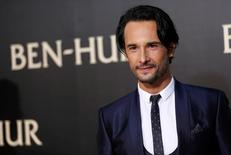 """Ator Rodrigo Santoro na premiére do filme """"Ben-Hur"""" em Hollywood, Califórnia 16/08/2016  REUTERS/Mario Anzuoni"""