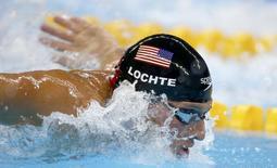 Nadador norte-americano Ryan Lochte durante prova na Rio 2016 10/08/2016 REUTERS/Michael Dalder