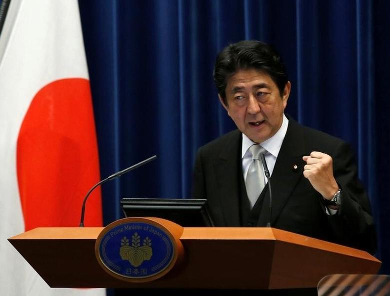 Japan's Prime Minister Shinzo Abe speaks at a news conference at his official residence in Tokyo, Japan, August 3, 2016. REUTERS/Kim Kyung-Hoon