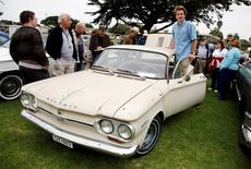 David Swan poses with his 1964 Chevrolet Corvair 500 during the Concours d'LeMons in Seaside, California, August 20, 2016. Michael Fiala/Courtesy of The Revs Institute/Handout via REUTERS