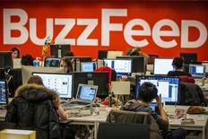 Funcionários do BuzzFeed na sede da empresa em Nova York 09/01/2014 REUTERS/Brendan McDermid/File Photo
