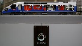 Alstom se place en pole position sur le marché américain du train à grande vitesse avec le contrat de 1,8 milliard d'euros décroché auprès d'Amtrak et prend une petite revanche après des années d'efforts pour convertir les Etats-Unis au TGV. /Photo prise le 11 mai 2016/REUTERS/Gonzalo Fuentes