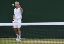 Britain Tennis - Wimbledon - All England Lawn Tennis & Croquet Club, Wimbledon, England - 9/7/16 Canada's Milos Raonic's coach John McEnroe during a practice session REUTERS/Toby Melville