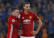 Manchester United's Wayne Rooney and Zlatan Ibrahimovic. Hull City v Manchester United - Premier League - The Kingston Communications Stadium - 27/8/16. Action Images via Reuters / Lee Smith Livepic