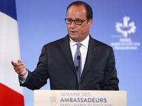 Presidente francês, François Hollande. 30/08/2016 REUTERS/Francois Mori/Pool