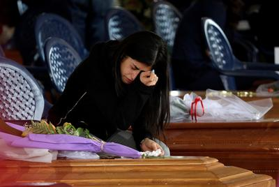 Mourning in Italy quake zone