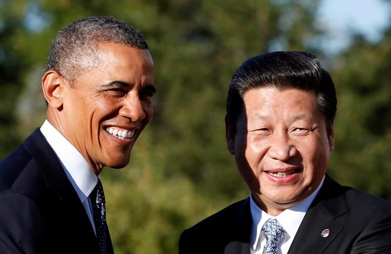 U.S. President Barack Obama meets with China's President Xi Jinping at the G20 Summit in St. Petersburg September 6, 2013. REUTERS/Kevin Lamarque