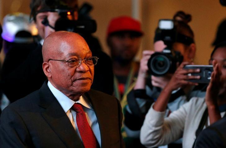 South Africa's President Jacob Zuma arrives for the official announcement of the munincipal election results at the result centre in Pretoria, South Africa, August 6, 2016. REUTERS/Siphiwe Sibeko