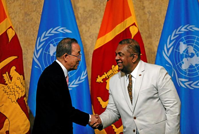 U.N. chief urges Sri Lanka to redress wrongs of warleftright