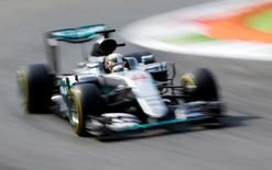 Formula One - F1 - Italian Grand Prix 2016 - Monza, Italy - 02/9/16 - Mercedes' Lewis Hamilton of Britain during the first free practice.  REUTERS/Max Rossi