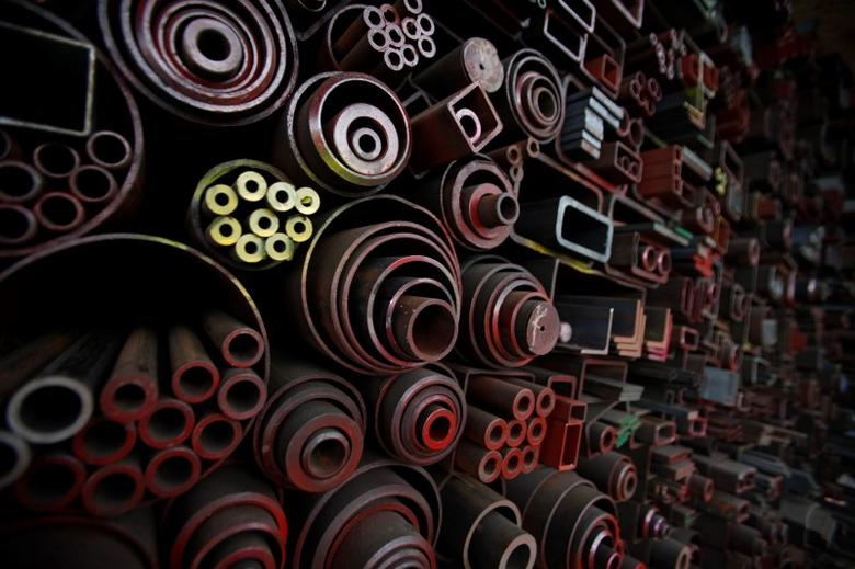 Steel products are pictured stacked at a steelworks in Seoul July 23, 2014. REUTERS/Kim Hong-Ji