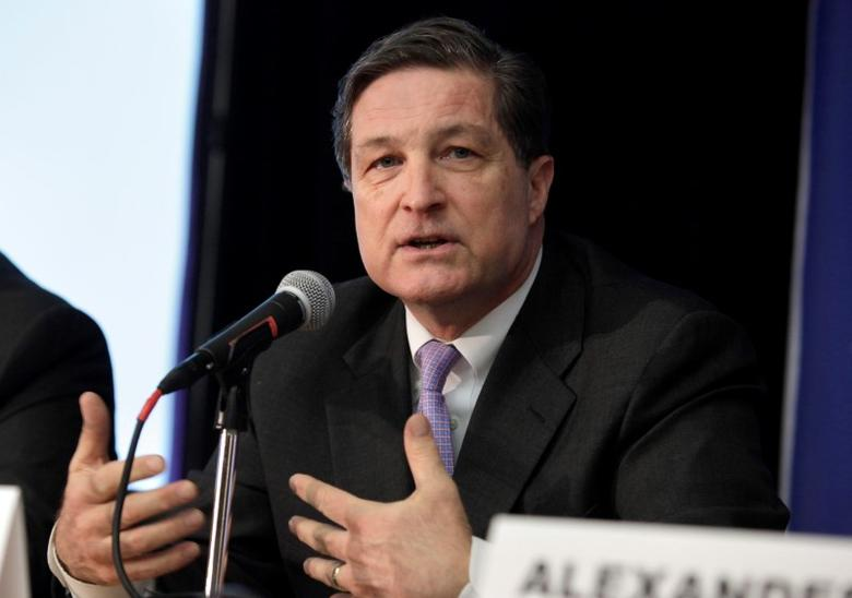 File photograph of Jeffrey Lacker, president of the Federal Reserve Bank of Richmond, participating in a session titled, ''Help or Harm: Central Bank Monetary Policies at the Outer Limits'' NABE Economic Policy Conference in Washington March 5, 2013. REUTERS/Yuri Gripas