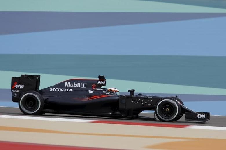 Formula One - Bahrain Grand Prix - Sakhir, Bahrain - 01/04/16 - McLaren F1 driver Stoffel Vandoorne of Belgium drives during the first practice. REUTERS/Hamad I Mohammed