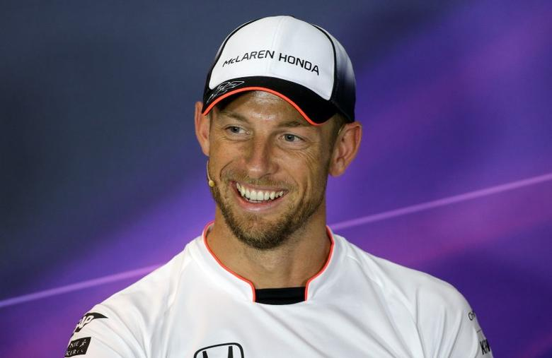 Formula One - F1 - Italian Grand Prix 2016 - Monza, Italy - 01/9/16 - McLaren's Jenson Button of Britain smiles during the news conference. REUTERS/Max Rossi
