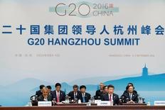 El presidente chino Xi Jinping habla durante la ceremonia de apertura de la cumbre del G-20, en Hangzhou, China. 4 de septiembre de 2016. Los líderes de las principales economías del mundo dijeron el lunes que el voto de Gran Bretaña para salir de la Unión Europea suma incertidumbre al panorama económico global, pero que las economías del G-20 están bien posicionadas para lidiar con las consecuencias económicas y financieras. REUTERS/Mark Schiefelbein/Pool