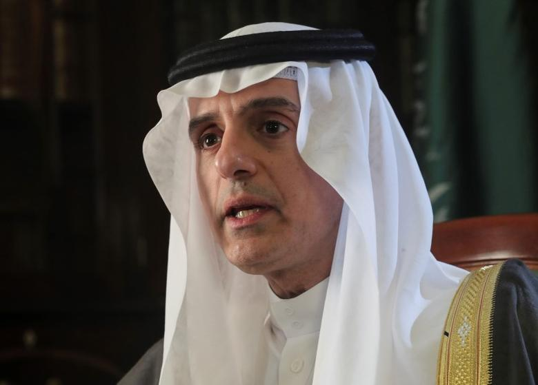 Saudi Arabia's Foreign Minister Adel al-Jubeir speaks at a briefing with reporters at the Saudi Embassy in London September 6, 2016.     REUTERS/Eddie Keogh