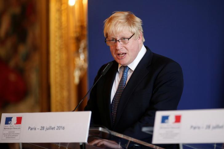 British Foreign Secretary Boris Johnson attends a news conference at the Foreign Affairs Ministry in Paris, France, July 28, 2016. REUTERS/Benoit Tessier/Files
