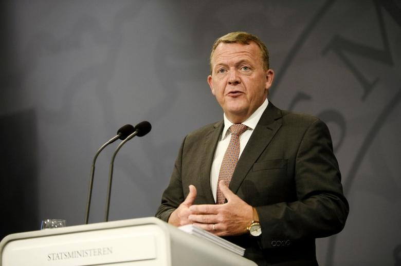 Danish Prime Minister Lars Lokke Rasmussen speaks during a press meeting in Copenhagen, Denmark August 30, 2016. Scanpix Denmark/Olafur Steinar Gestsson via REUTERS