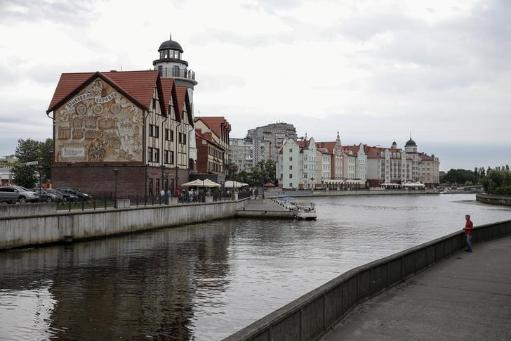 A general view shows the ''Fishing Village'' ethnographic, craft and trade centre in the Baltic Sea port of Kaliningrad, Russia, July 18, 2015. Picture taken July 18, 2015. REUTERS/Maxim Shemetov/File Picture