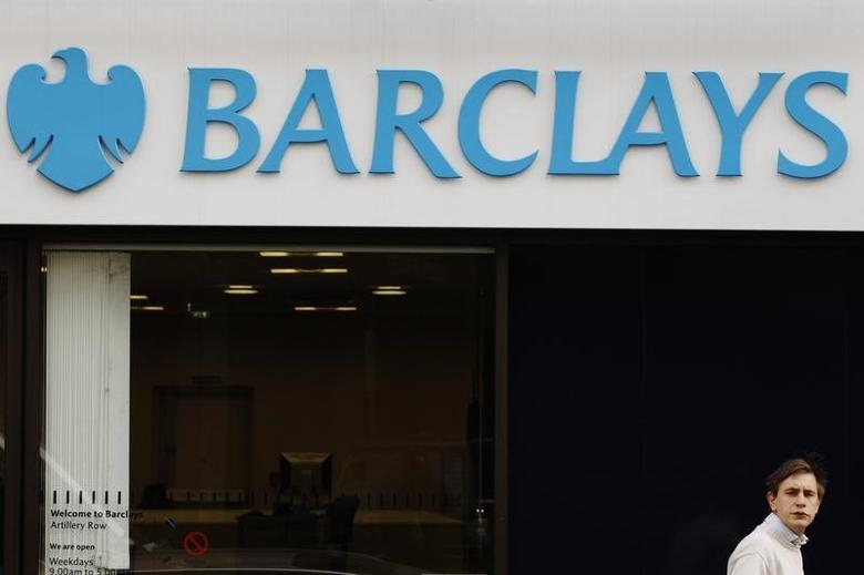 Signage for Barclays bank in London February 14, 2012.   REUTERS/Luke MacGregor/Files