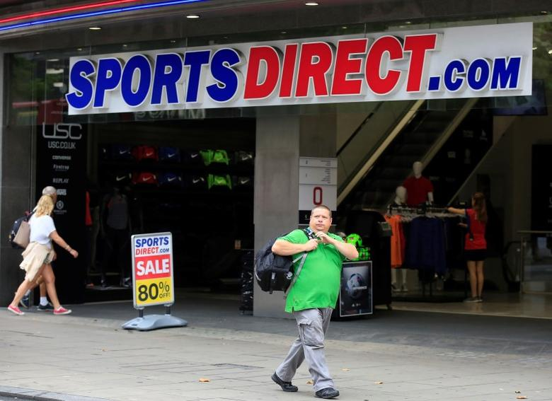 A man walks past a Sports Direct store on Oxford Street in London, Britain July 22, 2016. REUTERS/Paul Hackett