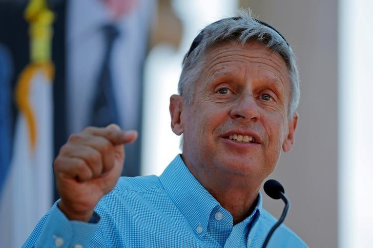 Libertarian presidential candidate Gary Johnson speaks at a campaign rally in Boston, Massachusetts, U.S., August 27, 2016. REUTERS/Brian Snyder