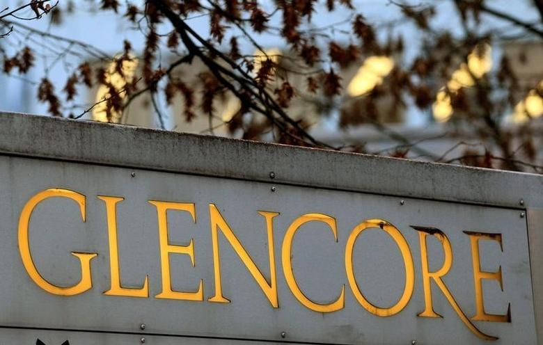 The logo of commodities trader Glencore is pictured in front of the company's headquarters in the Swiss town of Baar November 20, 2012. REUTERS/Arnd Wiegmann/File Photo