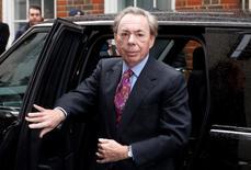 Andrew Lloyd Webber chega para evento em Londres.  5/3/2016.   REUTERS/Neil Hall